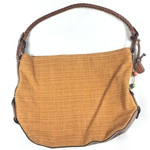 Fossil Woven Shoulder Bag Braided Leather Strap